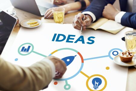 Ideas Fresh Brainstorming Creative Strategy Concept Stock Photo