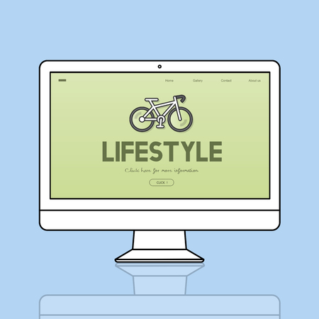 Lifestyle concept on computer screen