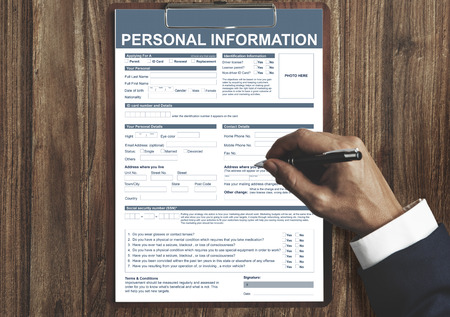 Personal Information Appilcation Identity Private Concept