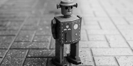 tiled floor: Robot Toy Imagination Retro Styled Tiled Floor Concept