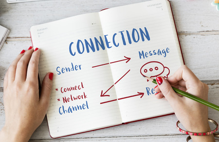 Communication Graph Networking Connection Internet Concept Stock Photo