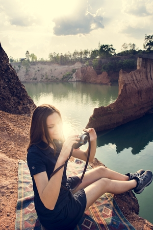 Woman Travel Backpacker Adventure Concept