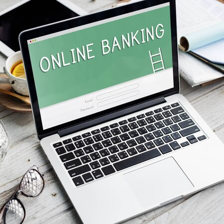 Online Banking Accounting Financial Concept