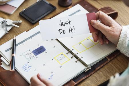 Just Do It Plan Motivate Concept