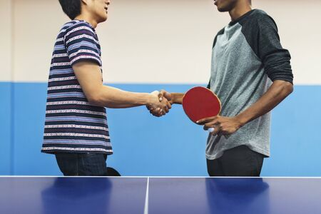 ping pong: Ping Pong Table Tennis Game Practicing Sport Concept