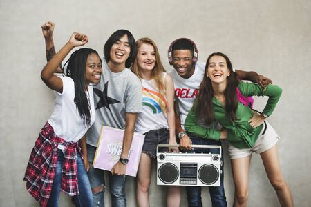 Teenagers Lifestyle Casual Culture Youth Style Concept Stock Photo