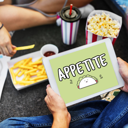 Appetite concept on digital tablet