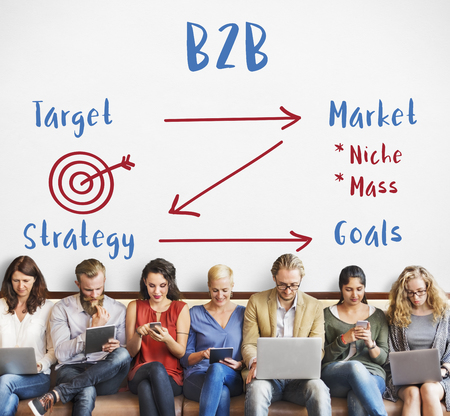 Business Plan Strategy Goals Target Marketing Concept Stock Photo