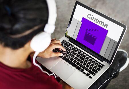 Cinema Media Movies Entertainment Concept Stock Photo