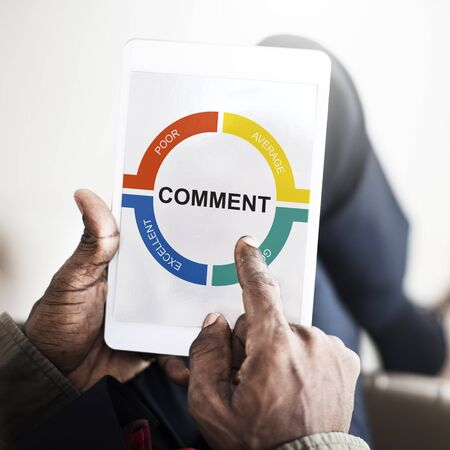 Customer Service Feedback Comment Graphic Concept Stock Photo