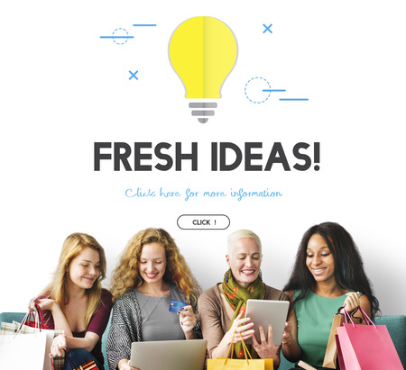 Group of people with fresh ideas concept
