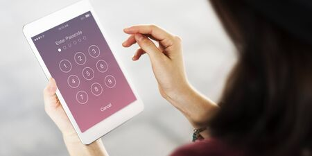 passcode: Enter Passcode Security System Concept Stock Photo
