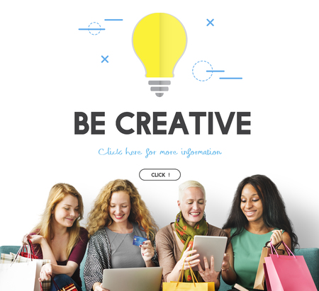 Group of people with be creative concept Stock Photo
