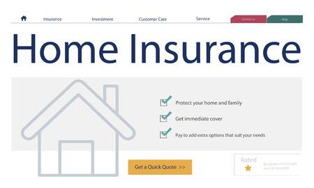 Home insurance concept Zdjęcie Seryjne
