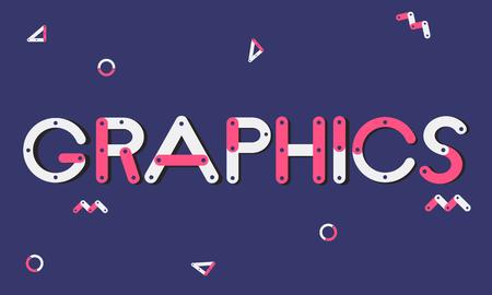 Graphics concept Stock Photo