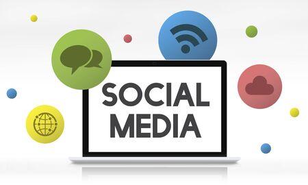 socialise: Social Media Communication Connection Concept