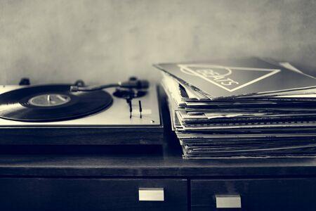 La música antigua Concepto del fonógrafo de moda