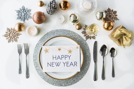 Celebración del Año Nuevo Concepto Decoración Foto de archivo - 69618117