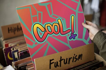 Cool Chill Chic Creative Fashion Fresh Trends Concept Stock Photo