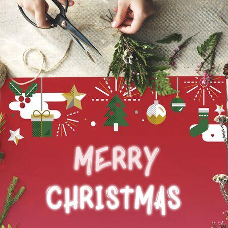 happy christmas: Merry Christmas Happy Celebration Concept