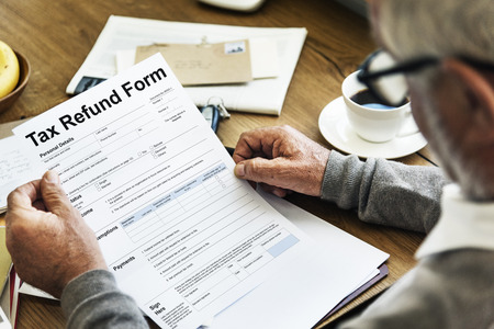 Tax refund form concept Stock Photo