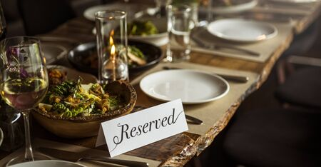Restaurant Chilling Out Classy Lifestyle Reserved Concept Stock Photo