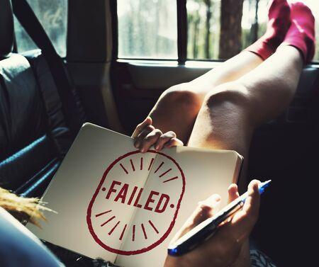 Failed Fiasco Loss Unsuccessful Graphic Concept Stock Photo