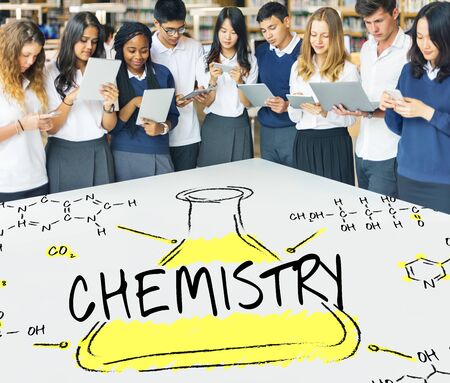 Science Experiment Laboratory Formula Chemical Concept Stock Photo