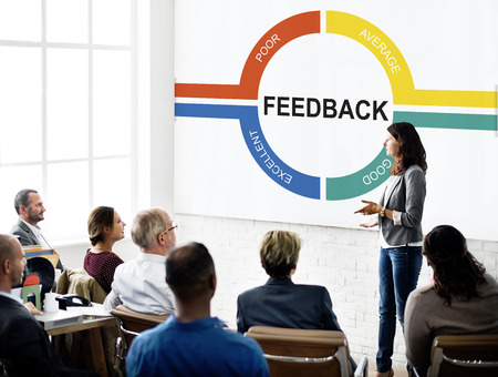 Customer Service Feedback Comment Graphic Concept Stok Fotoğraf