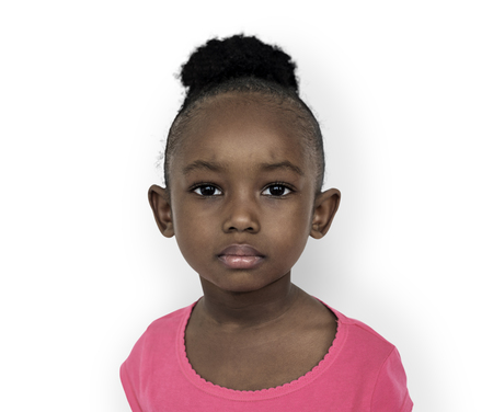 Little girl with face expression Stock Photo