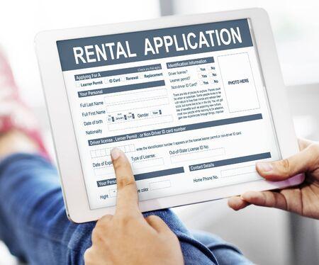 rental: Rental Application Form Financial Concept