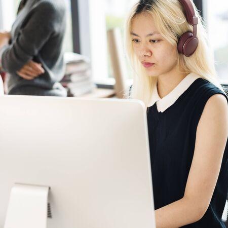 mousepad: Business Team Brainstorming Workspace Concept