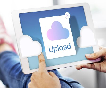 sync: Cloud Computing Storage Icon Concept Stock Photo