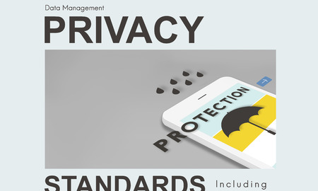 Privacy standards concept on mobile phone
