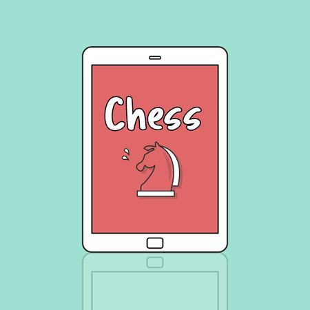 lógica: Chess Logic Game Concept Foto de archivo