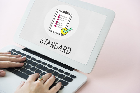Quality Assurance Clipboard Icon Stockfoto