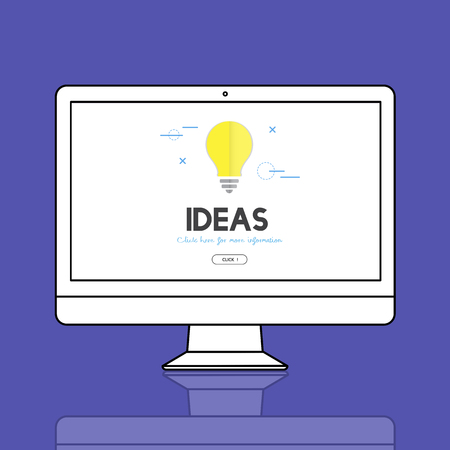 Ideas concept on computer screen Stock Photo