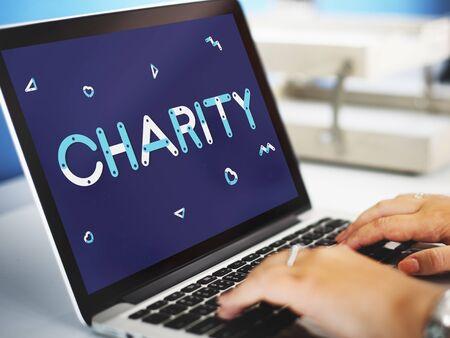nonprofit: Charity Volunteer Helping Nonprofit Concept