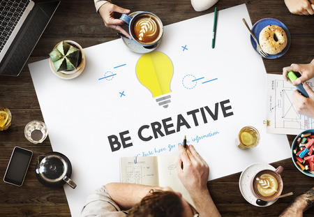 Be creative concept in a meeting Stock Photo