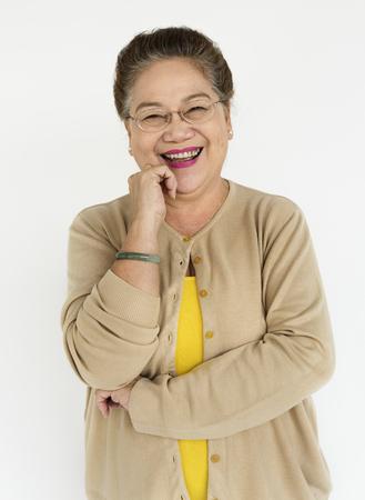 Senior woman laughing