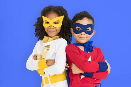 adolescence: Superhero Adolescence Child Kid Expertise Concept Foto de archivo