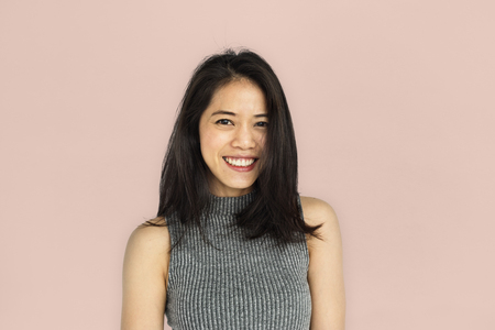 Women Adult Asian Smile Happy Concept