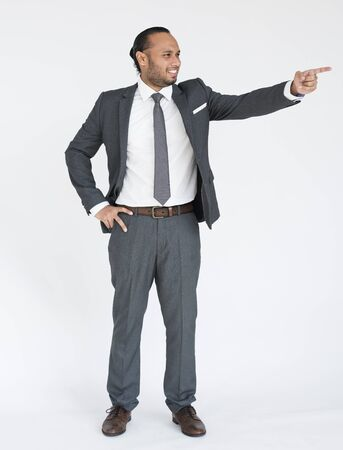 indian business man: Indian Business Man Pointing Concept