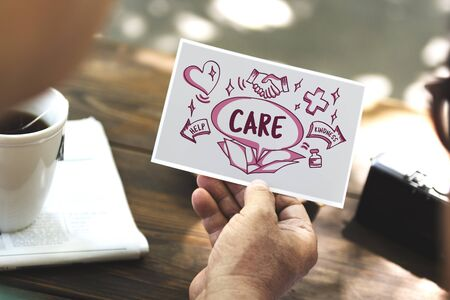 tend: Care Help Secured Service Attend Protect Concept Stock Photo