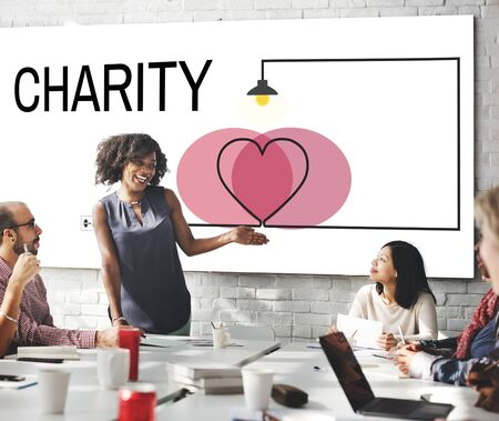 love strategy: Donations Charity Support Love Care Heart Concept Stock Photo