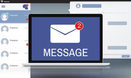 envelop: Letter Envelop Message Notification Concept Stock Photo