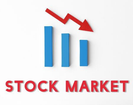 stagnation: Recession Statistics Financial Failure Concept Stock Photo
