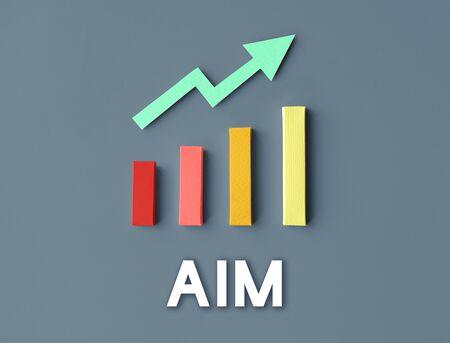 Graph Growth Development Improvement Profit Success Concept Stock Photo