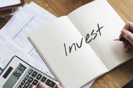 where: Where to Invest Entrepreneur Investment Financial Risk Assessment Concept Stock Photo