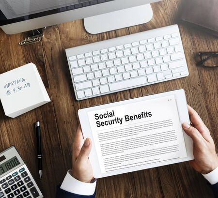 seguridad social: Social Security Benefits Agreement Concept
